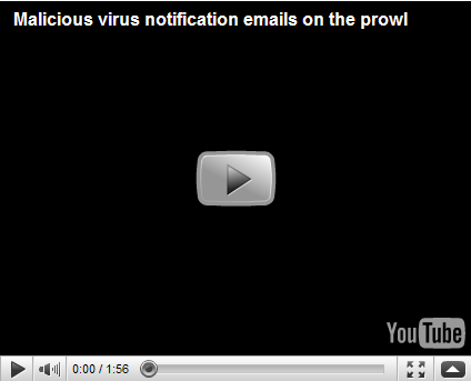 Malicious virus notification emails on the prowl | Forcepoint