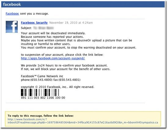Facebook used for phishing attacks and open redirects