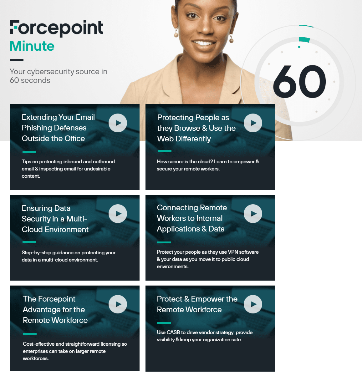 Forcepoint Minute video series on Forcepoint.com