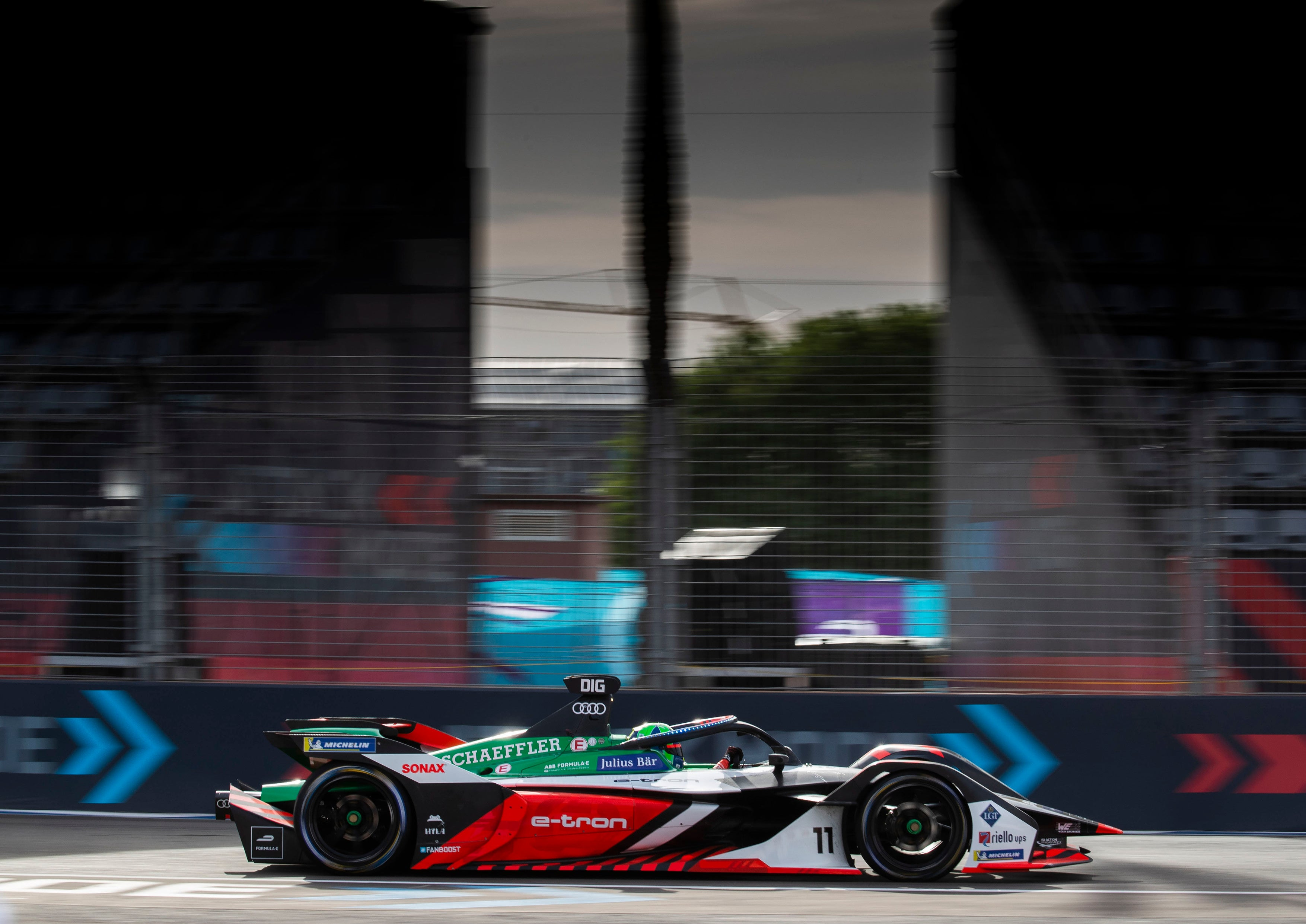Lucas di Grassi on the track at Marrakesh 2020