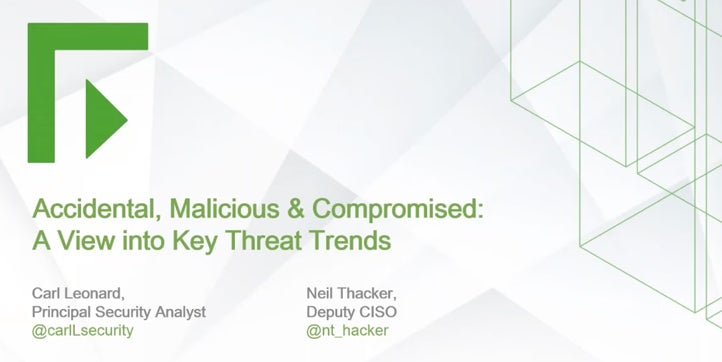 Accidental, Malicious & Compromised: A View into Key Threat Trends