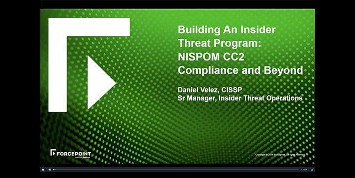 Building an Insider Threat Program for NISPOM CC2 and Beyond