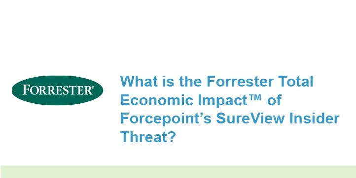 What is the Forrester Total Economic Impact™ of Forcepoint's SureView Insider Threat?