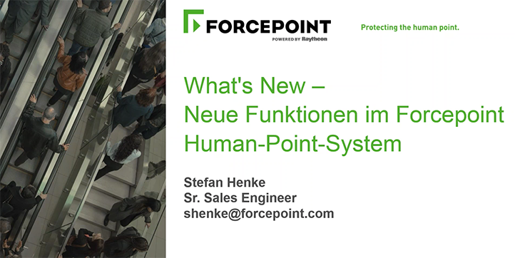 What's New – Neue Funktionen im Forcepoint Human-Point-System