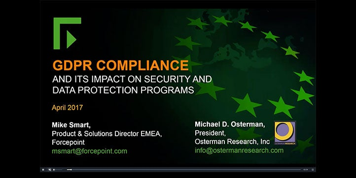 Webcast: GDPR Compliance and its Impact on Security and Data Protection Programs