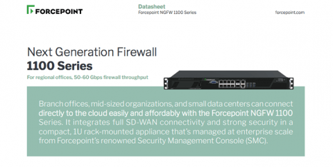 Forcepoint NGFW 1100 Series Appliance datasheet