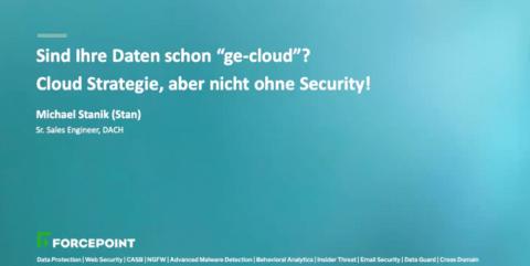 Cloud Strategie, aber nicht ohne Security!