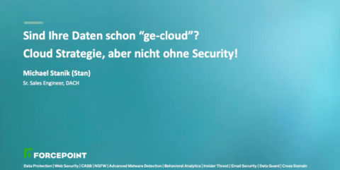 Cloud Strategie, aber nicht ohne Security!