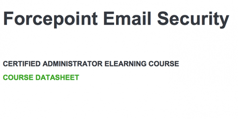 Forcepoint Email Security Administrator eLearning Training