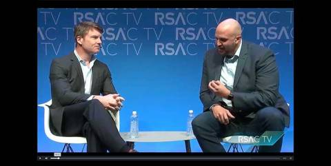 Forcepoint CEO Matt Moynahan is interviewed by Sean Sposito, Assistant Director, Content Strategy, Christian Science Monitor at RSAC
