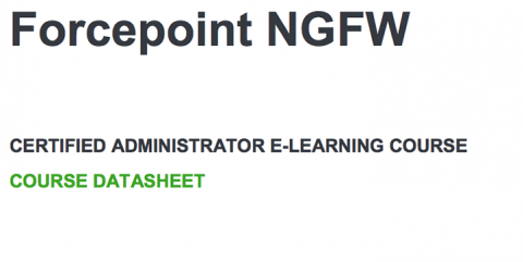 Forcepoint NGFW Administrator eLearning Training