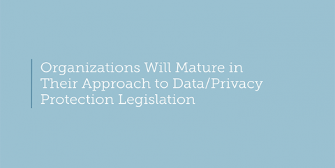 Businesses will mature in their approach to data/privacy protection legislation