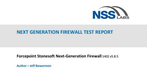 Forcepoint Next Generation Firewall NSS Labs Report