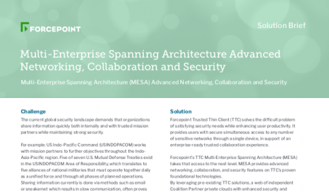 Multi-Enterprise Spanning Architecture Advanced Networking, Collaboration, and Security