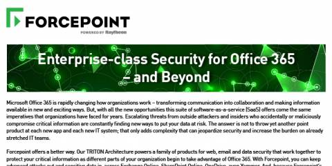 Enterprise-Class Security for Office 365 - and Beyond