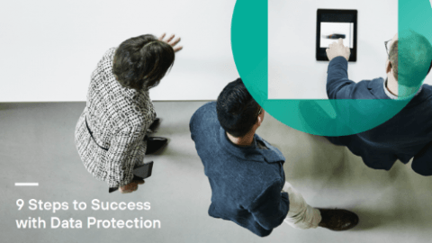 9 Steps to Success with Data Protection infographic