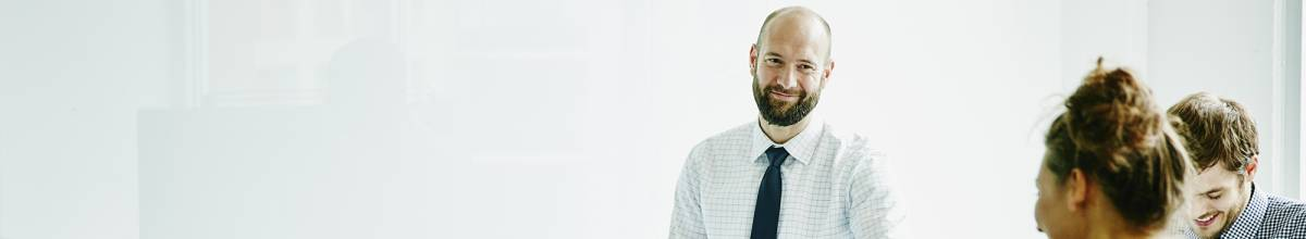 Man presenting in business meeting
