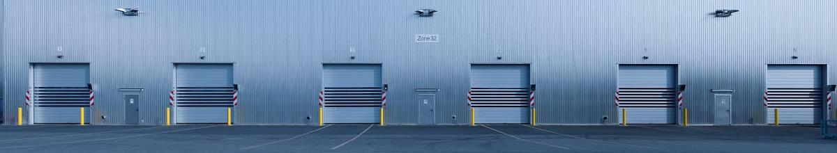 Row of industrial doors