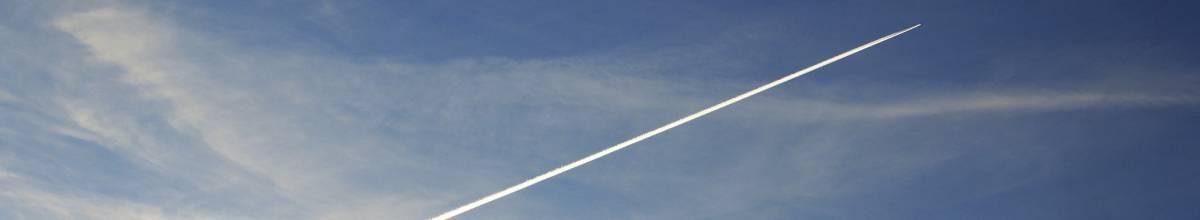Sky with airplane smoke line