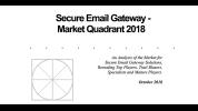 The Radicati Group Secure Email Gateway – Market Quadrant 2018
